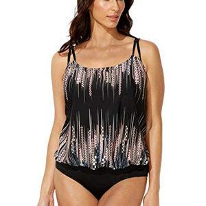Swimsuits For All Plus sz Blouson 1pc ~ A422